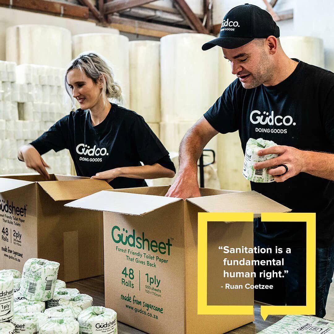Güdsheet – Toilet paper that builds toilets